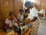 Mozambique sewing machine ladies